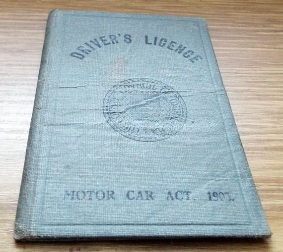 1929 County of Middlesex Drivers Licence  Vintage Driving