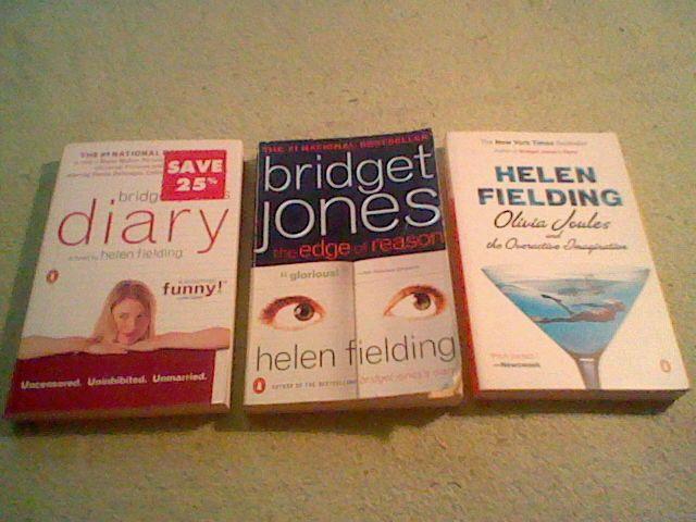Bridget Jones's Diary,Edge of Reason,Olivia Joules by Helen Fielding lot