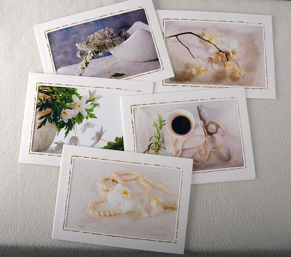 Greeting cards for birthdays and other occasions  White