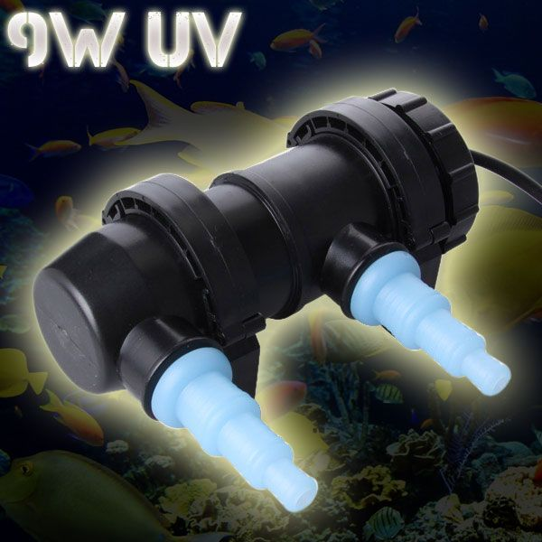 Jebo 9w 350l H Uv Sterilizer Lamp Light Ultraviolet Filter Water Cleaner Clarifier For Aquarium Fish Tank 1 Uv Replace Light Affiliate