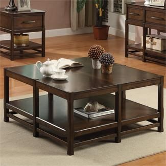 tranquility square coffee table i riverside furniture