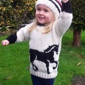 Horse Sweater and Hat - via @Craftsy