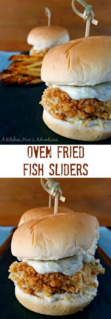 A craving for a fried fish sandwich inspired these #SundaySupper super crispy, Oven Fried Fish Sliders. The crunch alone will get you addicted to these flavorful and healthier fish sandwiches. Perfect recipe for game day dinner.