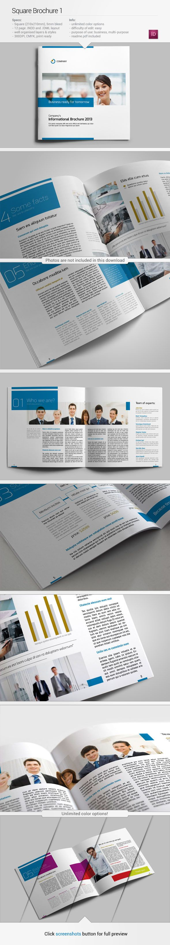 Square Brochure 1 | Visit source for better preview :)