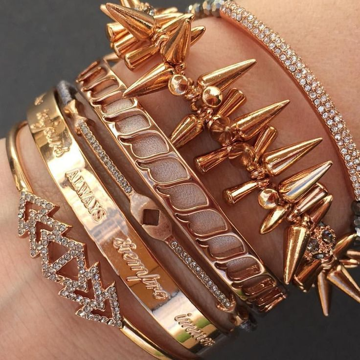 Rose gold arm party!  Shop the link at www.stelladot.com/sites/juliepowderly