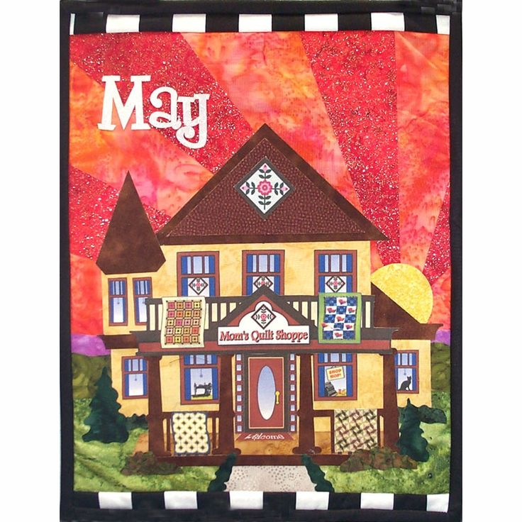 May Holiday House Mini Quilt Kit