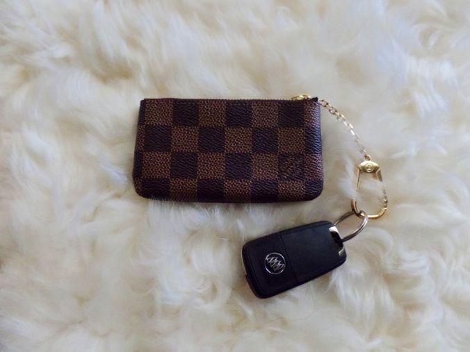 Louis Vuitton Key Pouch in Damier Ebene - my new love! :)
