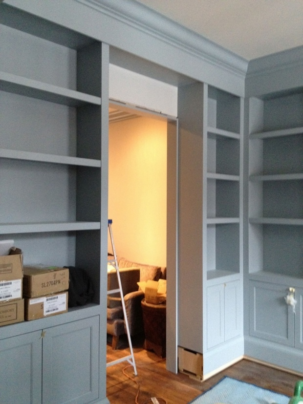 shelves boothbay gray from benjamin moore paint pinterest offices my books and study. Black Bedroom Furniture Sets. Home Design Ideas