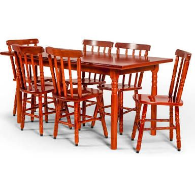 Mesa Com 6 Cadeiras Torneadas. De R$ 898 Por R$ 720. SUPER LIQUIDAÇÃO De  MÓVEIS Para Você Mobiliar Ou Renovar Os Ares Da Sua Casa!