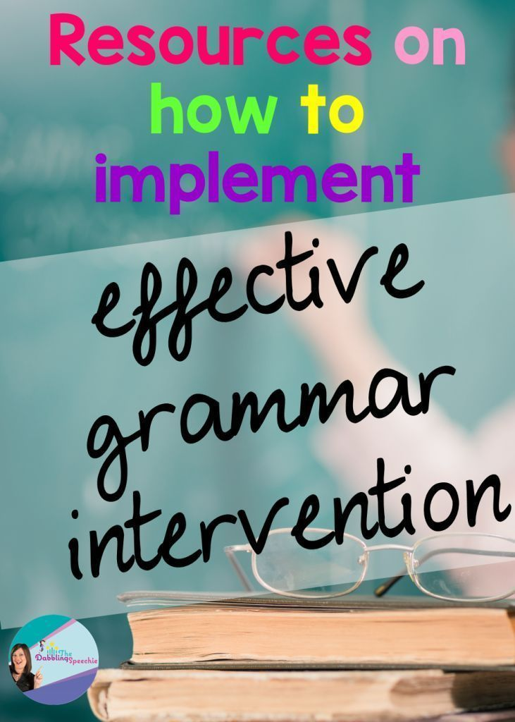resources for effective grammar intervention to use in speech therapy