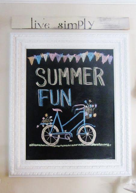 Junk Chic Cottage: Cute Summer Chalkboard