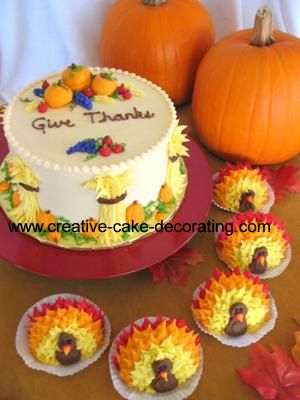 Image Detail for - cake decorating tips done for thanksgiving dinner this was a harvest .