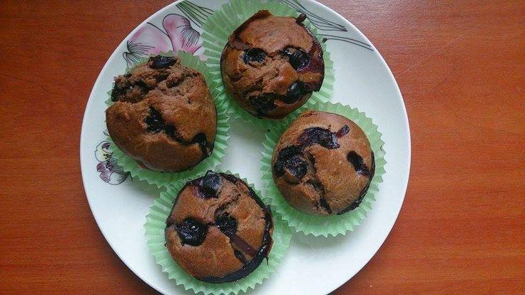 """""""Muffiny z karobem i borówkami"""""""