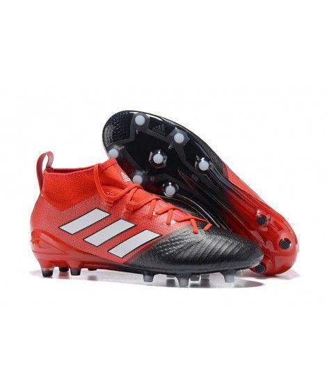 Adidas ACE 17.1 FG Tacchetti Per Terreni DuriUomo Scarpe Da Calcio Rosso Nero Bianco