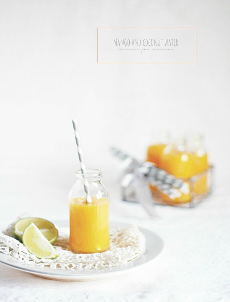 Mango and coconut water juice (no added sugar) - Sarah Brunella photography