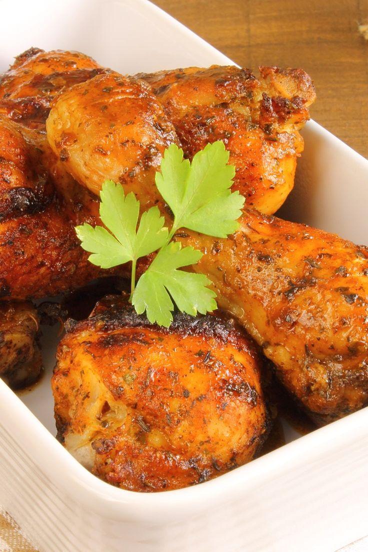 Sweet Hot Mustard Glazed Chicken Thighs