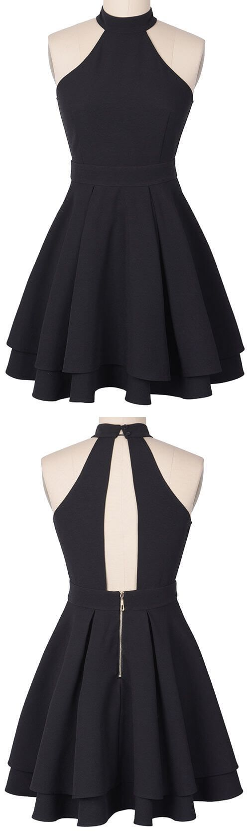 Follow Luna Tusuna for tons more beautiful, high quality images~♪☽♪☽⓴ ➎☾♪☾♪ This is so beautiful; open back unique structured two tiered layered skirt black probabl