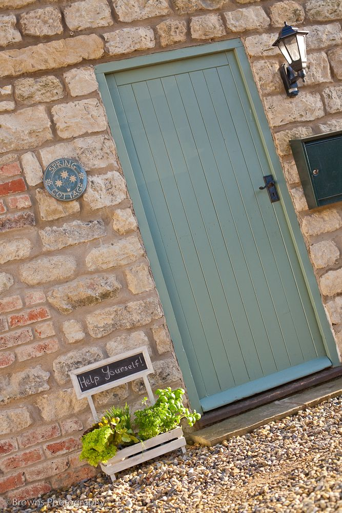 Spring Cottage front door, near Malton, North Yorkshire (painted in Farrow and Ball of course) - French Grey