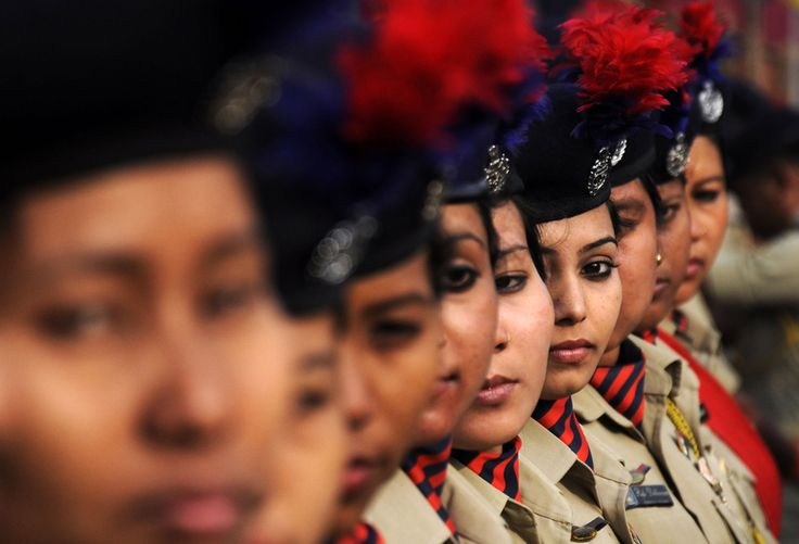 Indian military personnel wait to take part in a parade to mark the country's 67th Republic Day in Agartala on January 26, 2016. #
