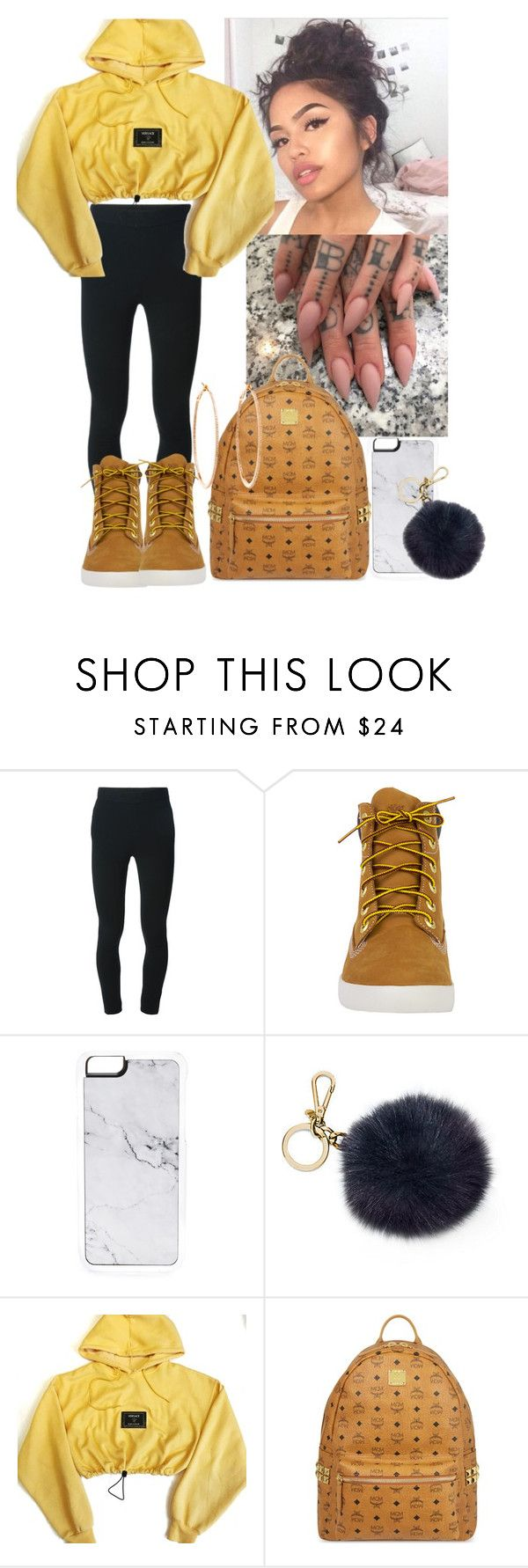 """""""Trill outfit #25"""" by msixo ❤ liked on Polyvore featuring Givenchy, Timberland, Zero Gravity, Michael Kors, Versace, MCM and Rosa de la Cruz"""