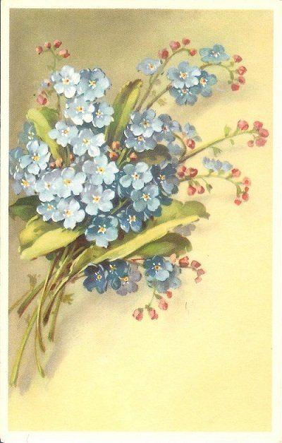 Vintage Alfred Mainzer Floral Postcard