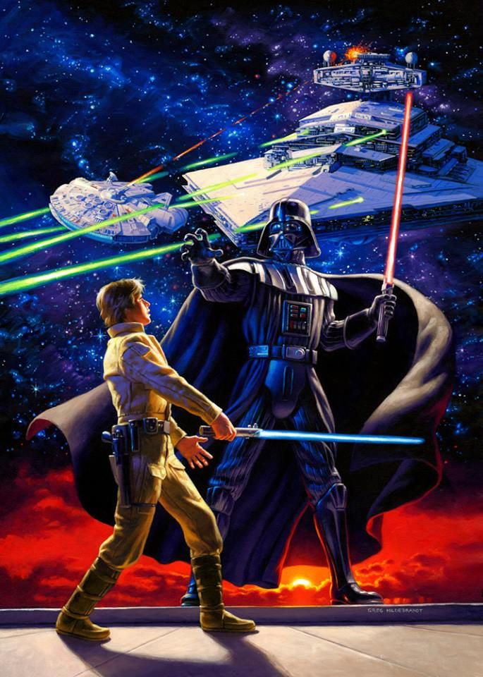 Luke vs Vader | Artist and Publication unknown please send credits info to Optimystique1