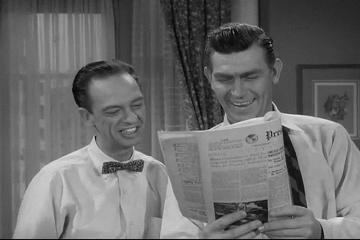 The Andy Griffith Show, Season 2, Episode 25 Andy and Barney in the Big City (26 Mar. 1962), , Don Knotts , Deputy Barney Fife
