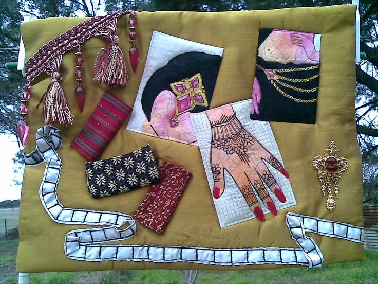 Bollywood - Fleur Maddern Challenge 9 - Art Quilts Around the World