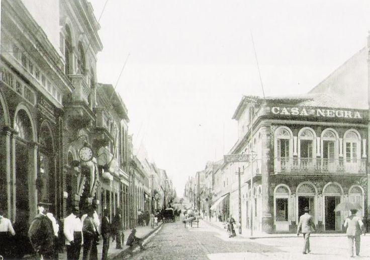 Rua Marechal Floriano Peixoto, no centro de Porto Alegre, em 1911. Porto Alegre Vintage