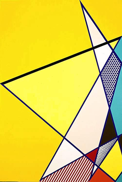 Roy Lichtenstein 1986 - IMPERFECT PAINTING 02 - Oil and magna on canvas (229 x 158 cm). Pop art #USA #Painting @deFharo