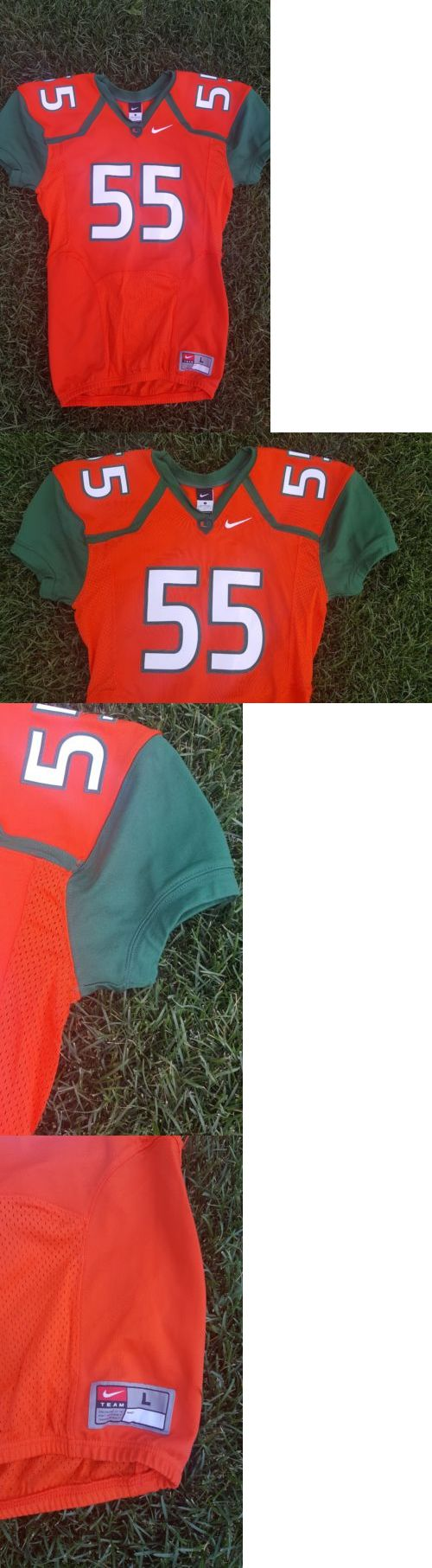 College-NCAA 24541: Nwt! Mens Nike Miami Hurricanes Pro Cut Embroidered College Football Jersey L -> BUY IT NOW ONLY: $44.95 on eBay!