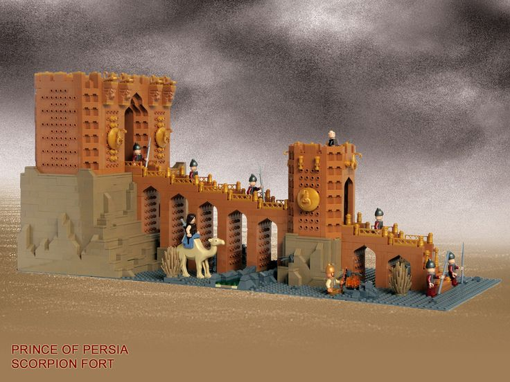 LEGO Prince of Persia MOC Scorpion Fort - Full view