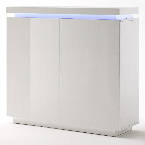 Hoogglans witte Commode kast - Azure LED 120 cm breed