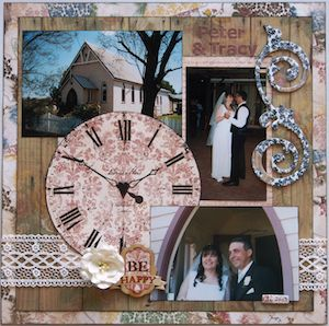 Wedding page created with BoBunny, Provence collection by Leonie for My Scrappin' Shop. #BoBunny