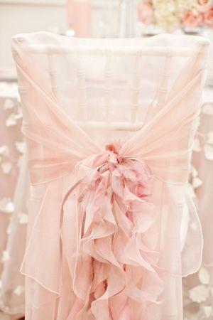 Ballerina decor: delicate pink wedding - brides of adelaide magazine - chair decor | Bon Miller