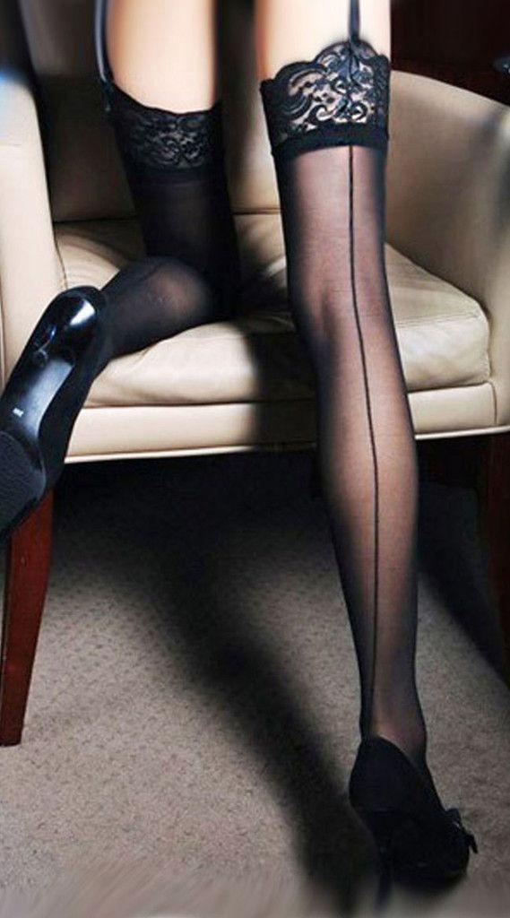 Backseam Cuban Heels High Tight (Black)