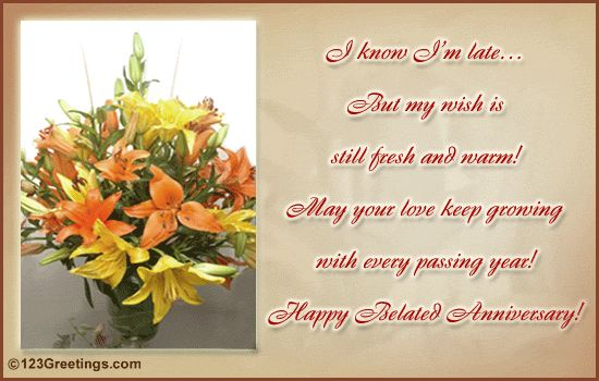 Belated Anniversary Wishes Quotes: Best 25+ Anniversary Wishes For Couple Ideas On Pinterest
