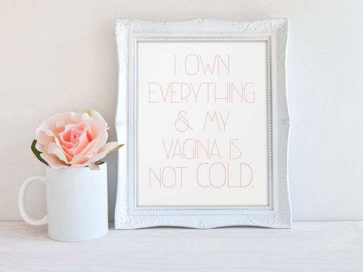 New to PopPastiche on Etsy: I own everything and my vagina is not cold - Giclée Print -  Wall Art - Home Decor -  Wall Decor - rhobh - erika jayne (10.00 USD)