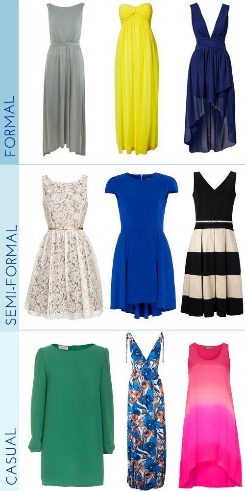What to wear to a wedding    Estos son unos hermoso trajes, los semi formales me encantan!!