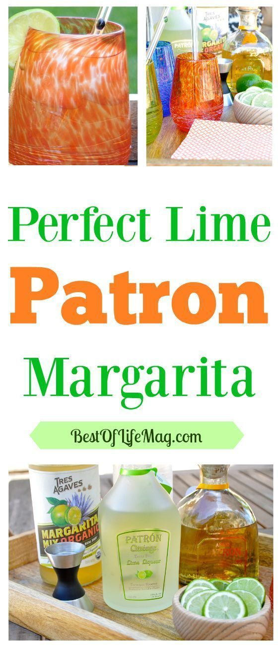 One of our latest margaritas we have been making at home is this lime Patron margarita recipe with a hint of lime. It is smooth and fresh on the palate!