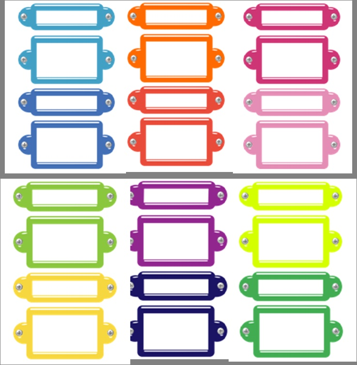 Filing Cabinet Style Drwr & Peg Labels