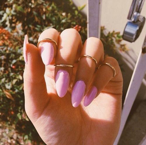 long nails and midi rings