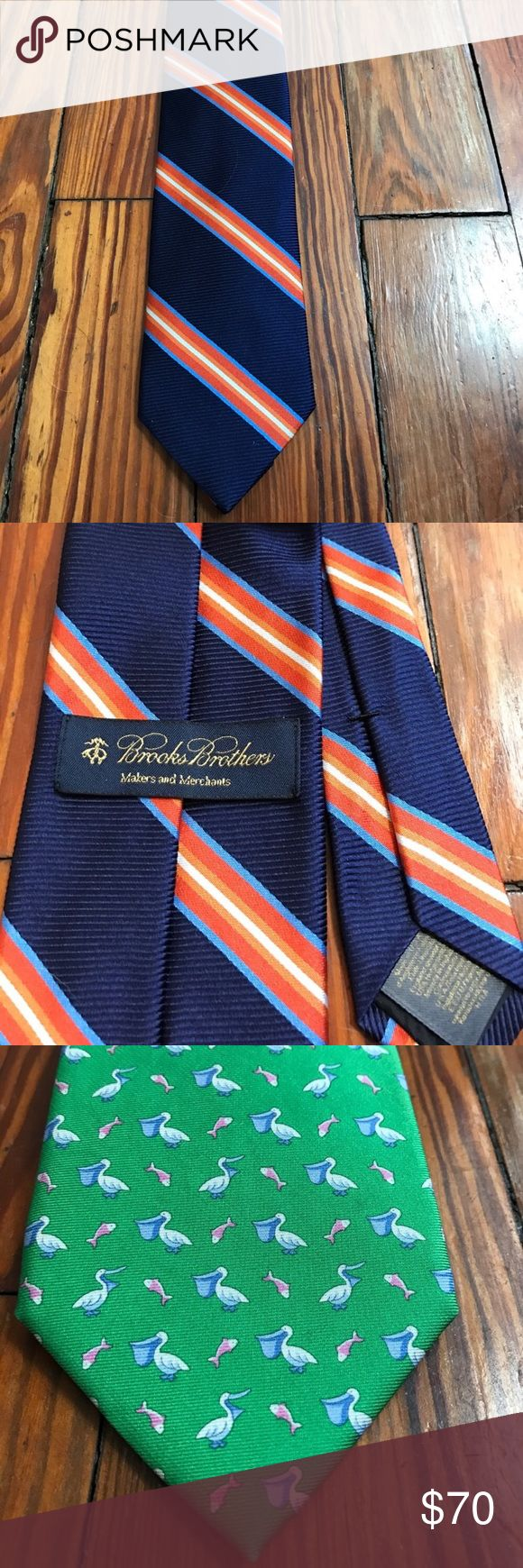 5 Brooks Brothers Ties - Bundle of 5 I am selling a bundle of five Brooks Brothers ties. Each of the ties is also listed individually in my closet, but I'm selling the bundle of all five at a much lower price. All reasonable offers considered. Brooks Brothers Accessories Ties