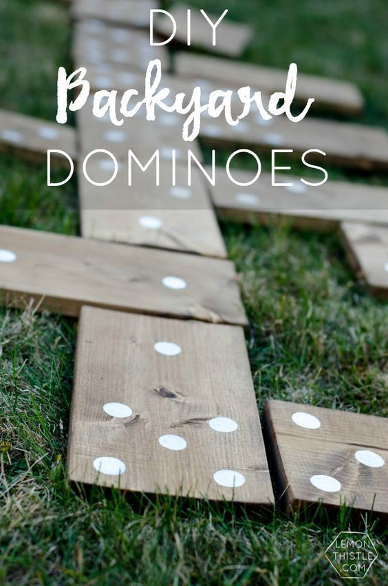 DIY Projects - Outdoor Games - Do It Yourself Backyard DOMINOES - So Fun for cookouts and backyard parties via Lemon Thistle