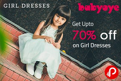 Babyoye offers UPTO 70% off on Girl Dresses. Casual Dresses, Party Dresses, Jumpsuits, Skirts, Sets With Frocks.  http://www.paisebachaoindia.com/get-upto-70-off-on-girl-dresses-babyoye/