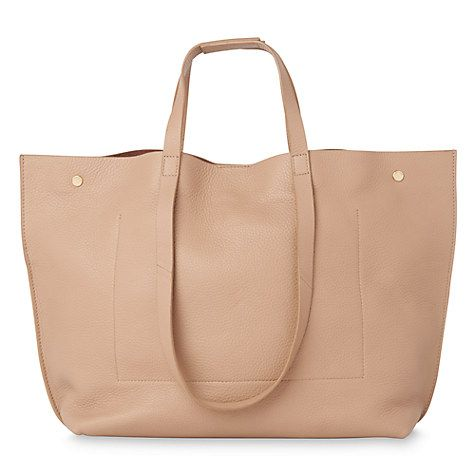 Buy Whistles Hamilton Unlined Stud Leather Tote Online at johnlewis.com