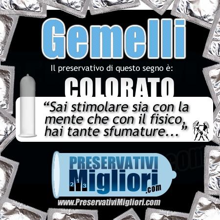 """Gemelli - Colorato - """"Sai stimolare sia con la mente che con il fisico, hai tante sfumature"""" - http://www.preservativimigliori.com/colorati.html"""