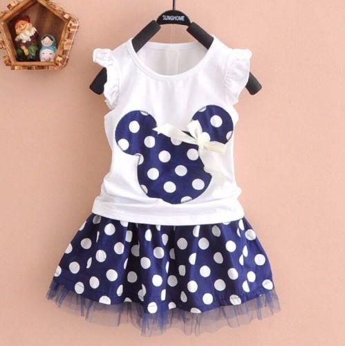 vestido falda camisa minnie mouse niñas tallas 1 - 4 años