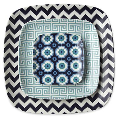Happy Chic by Jonathan Adler Set of 3 Ceramic Nesting Trays - (jcpenney!) $80 cute patterns: Happy Chic, Jonathanadler, Happychic, Ceramic Nesting, Ceramics, Kitchen, Adler Set, Jonathan Adler