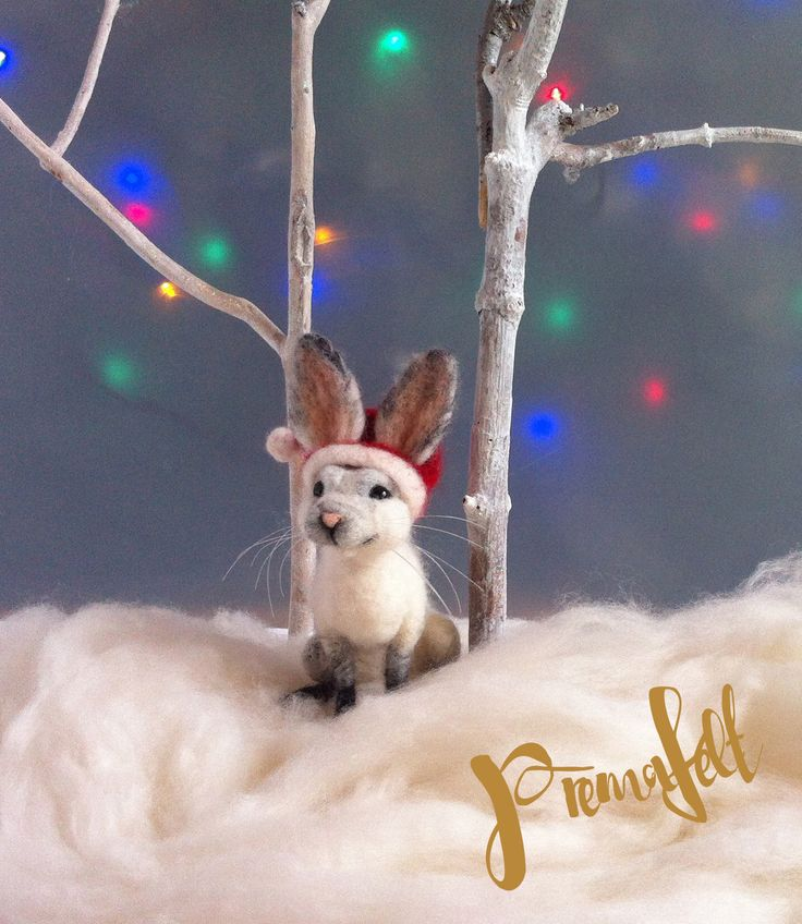 Needle felted animals, bunny , christmas decor #needlefeltedanimals, #needlefelted, #feltedanimals, #needlefelting, #miniatureanimalfigurines #toytoys #handmade #natural #fiberart #cute #realisticanimal #homedecor #birthdaygift #giftideas #merinowool #animalsculpture #miniaturegift #naturalwool #handmadeanimal #happyanimals #naturalwooltoys #christmas #ecofrendly #waldorf #ecotoys #feltcrafts #childrenkids #giftforanimallovers  #giftforcraftlovers  #funny